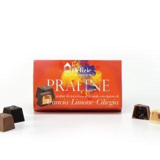 orange chocolates chocolate pralines lemon cherry