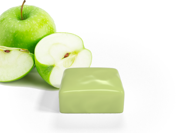 mappa cioccolato mela verde